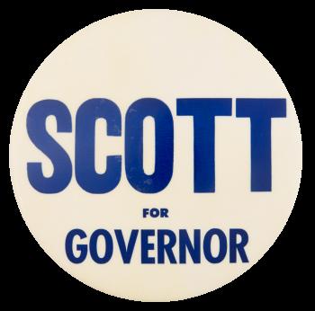 Scott for Governor Political Button Museum