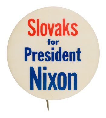 Slovaks for President Nixon Political Button Museum