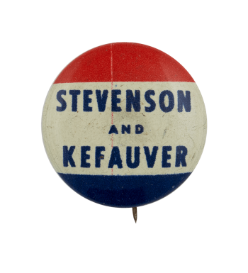 Stevenson Kefauver Political Busy Beaver Button Museum