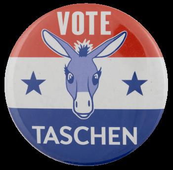 Vote Taschen Political Busy Beaver Button Museum