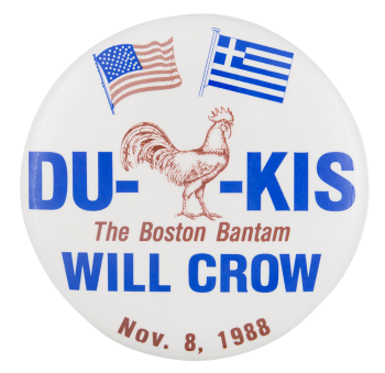 The Boston Bantam Will Crow Political Button Museum