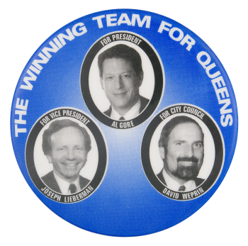 The Winning Team for Queens Political Button Museum