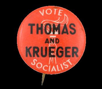 Vote Socialist Political Button Museum