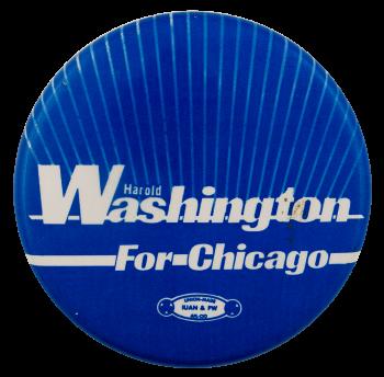 Washington For Chicago Political Busy Beaver Button Museum