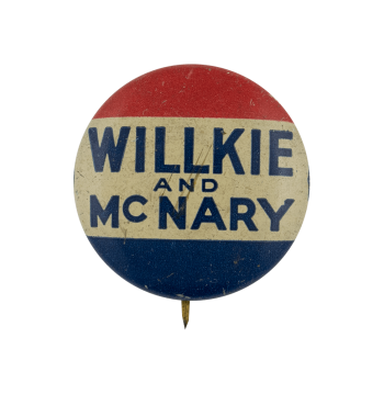 Willkie McNary Political Busy Beaver Button Museum