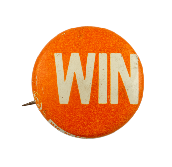 Win Orange Political Busy Beaver Button Museum