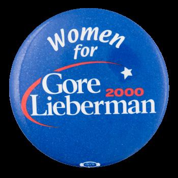 Women for Gore Lieberman Political Button Museum