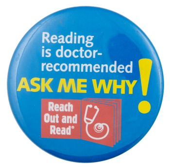 Reading is Doctor-Recommended Cause Busy Beaver Button Museum