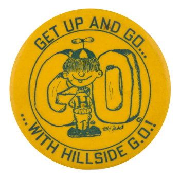 Hillside G.O. Yellow Schools Button Museum