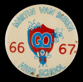 Martin Van Buren G.O. 66-67 Schools Button Museum