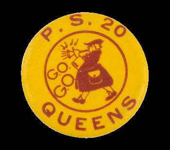 Public School 20 Queens G.O. Club Button Museum