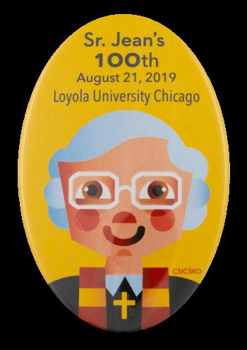 Sister Jean's 100th Loyola University School Busy Beaver Button Museum
