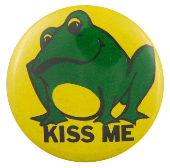 Kiss Me Frog Ice Breakers Busy Beaver Button Museum