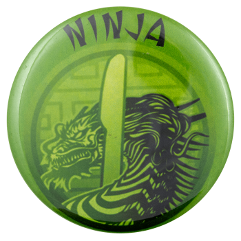 Ninja Dragon Knife Ice Breakers Busy Beaver Button Museum