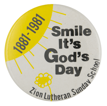Smile It's God's Day Ice Breakers Busy Beaver Button Museum