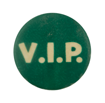 VIP Green Ice Breakers Busy Beaver Button Museum