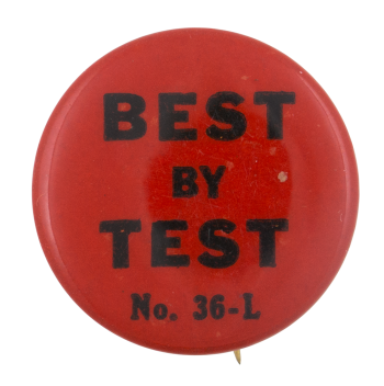 Best By Test Ice Breakers Button Museum