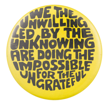 Doing The Impossible Ice Breakers Button Museum