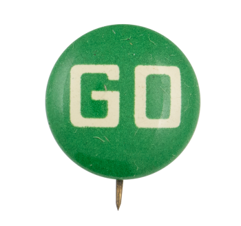 Green Go Ice Breakers Button Museum