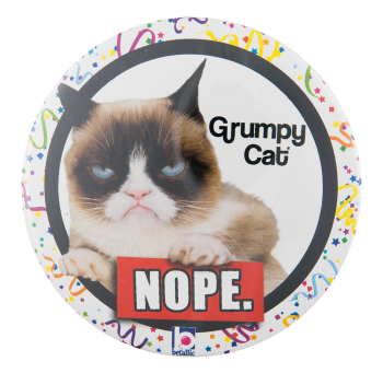 Grumpy Cat Social Lubricators Button Museum