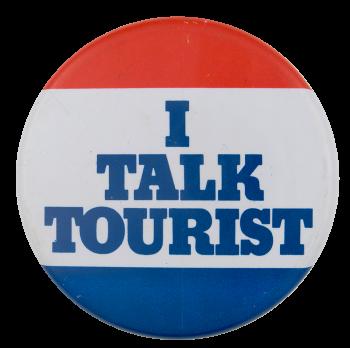 Talk Tourist Ice Breakers Button Museum