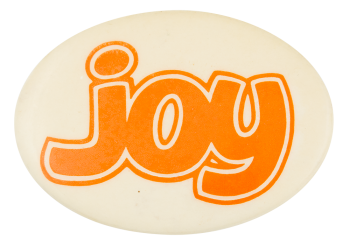 Joy Oval Ice Breakers Button Museum