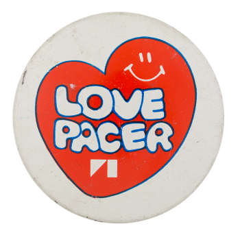 Love Pacer Smileys Button Museum