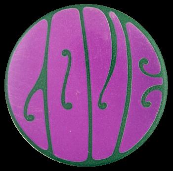 Love Purple Social Lubricator Button Museum