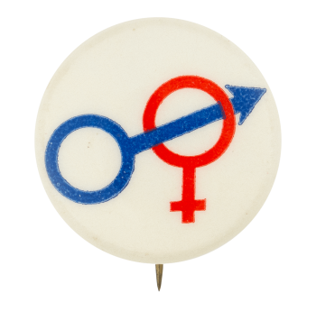 Male and Female Symbols Ice Breakers Button Museum