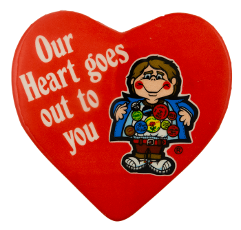 Our Heart Goes Out to You Button Flasher Social Lubricator Busy Beaver Button Museum