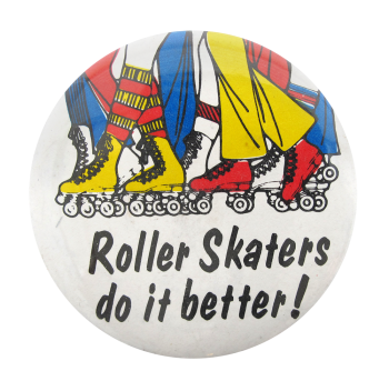 Roller Skaters Ice Breakers Button Museum