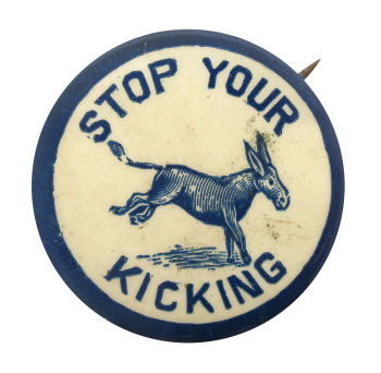 Stop Your Kicking Ice Breakers Button Museum