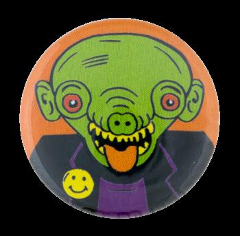 Green Creature Smileys Button Museum