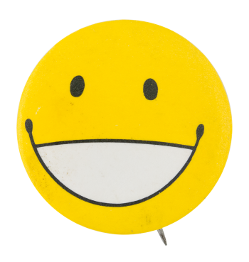 Open Mouth Yellow Smiley Smileys Button Museum