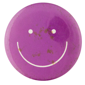 Purple Smiley Smileys Button Museum