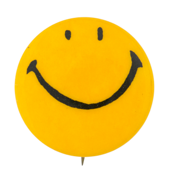 Yellow Smiley 8 Smileys Button Museum