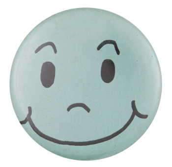 Blue Smiley Smileys Button Museum