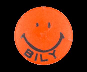 Bob Bily Smiley Orange Smiley Button Museum