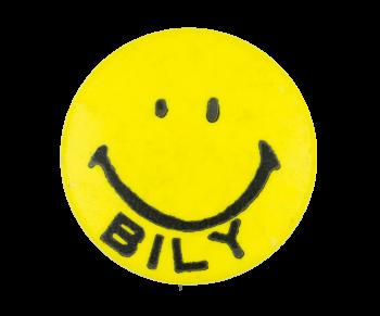 Bob Bily Smiley Yellow Political Button Museum