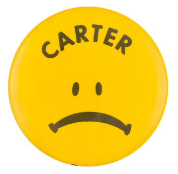 Carter Sad Face Smileys Button Museum