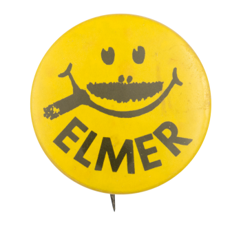 Elmer Mustache Smiley Smileys Button Museum
