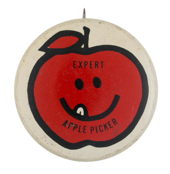Expert Apple Picker Smileys Button Museum