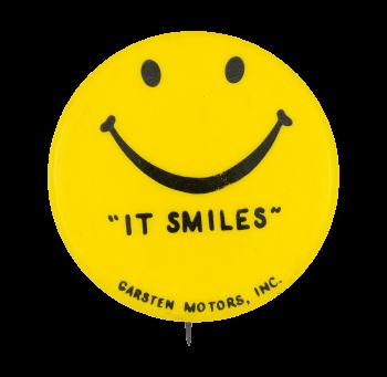 Garston Motors Smiley Smileys Button Museum