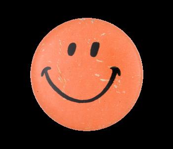 Orange Smiley Smileys Button Museum