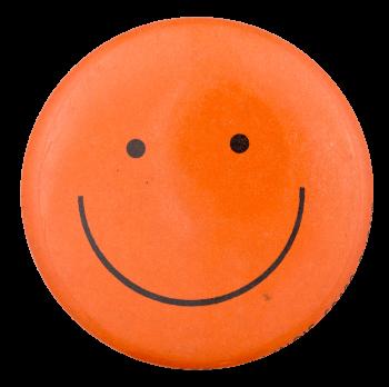 Orange Smiley 3 Smileys Button Museum
