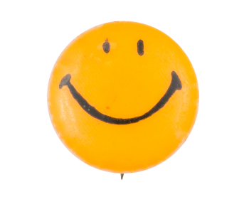 Orange Smiley 4 Smileys Button Museum