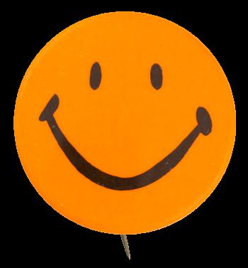 Orange Smiley 6 Smileys Button Museum