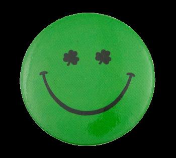 Shamrock Eyes Smileys Button Museum