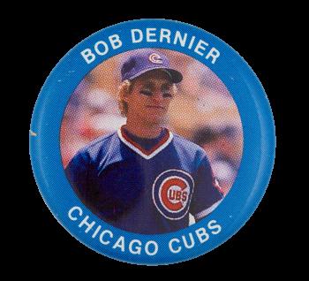 Bob Dernier Chicago Cubs Sports Button Museum