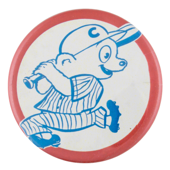 Cubs Bear Illustration Sports Button Museum